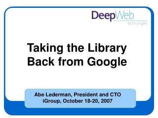 google u. : using google for academic research