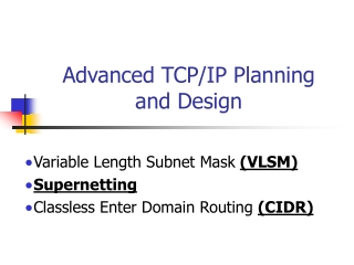 tcpip subnetting