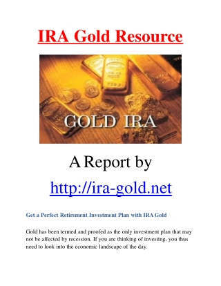 Gold IRA Resource