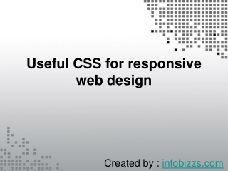 Useful CSS for responsive web design