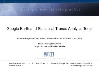 google earth and statistical trends analysis tools brandon ...
