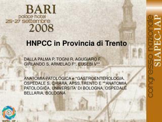HNPCC in Provincia di Trento