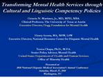 transforming mental health services through cultural and ...