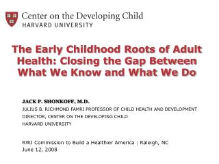 powerpoint presentation - the science of early childhood ...