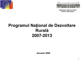 Programul National de Dezvoltare Rurala  2007-2013
