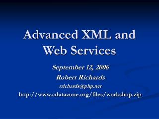 Advanced XML and Web Services