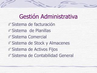 Gesti n Administrativa