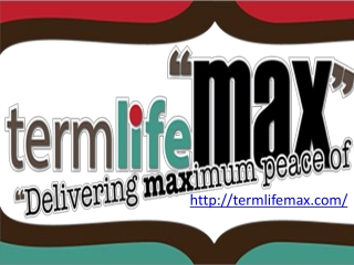 Why You Need to Determine First Term Life Max Insurance