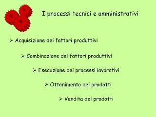 Acquisizione dei fattori produttivi