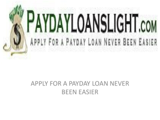 PayDay loans lights