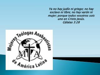 Ya no hay jud o ni griego; no hay esclavo ni libre; no hay var n ni mujer; porque todos vosotros sois uno en Cristo Jes