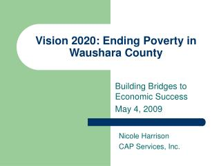 Vision 2020: Ending Poverty in Waushara County