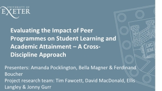 peer support: results from systematic review of peer programs and ...