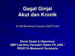 Gagal Ginjal ppt