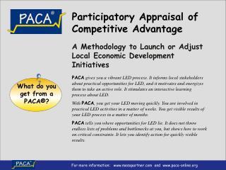Participatory Appraisal of Competitive Advantage