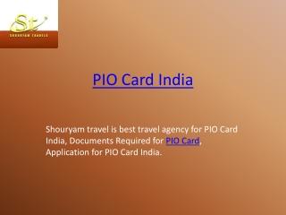 PIO Card India