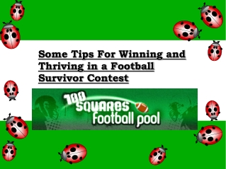 Some Tips For Winning  in a Football Survivor Contest
