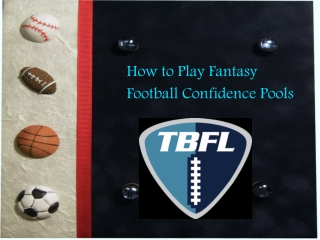 How to Play Fantasy Football Confidence Pools