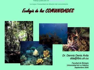 Ecolog a de las COMUNIDADES