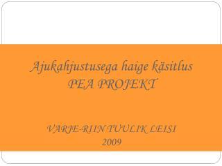 Ajukahjustusega haige k sitlus PEA PROJEKT  VARJE-RIIN TUULIK LEISI 2009