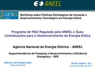 Programa de PD Regulado pela ANEEL e Suas Contribui  es para o Desenvolvimento da Energia E lica
