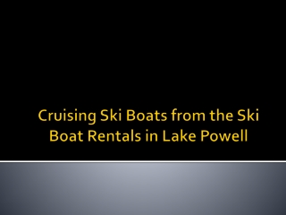 Cruising Ski Boats from the Ski Boat Rentas in Lake Powell
