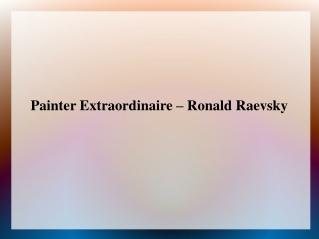 Ronald Raevsky