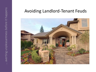 How to Avoid Landlord-Tenant Feuds