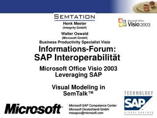 Informations-Forum:  SAP Interoperabilit t