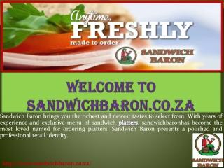 Welcome to sandwichbaron