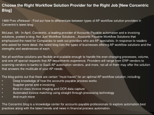 Choose the Right Workflow Solution Provider for the Right