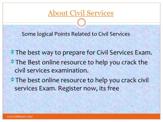 View About Civil Services