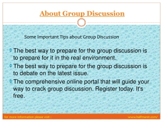 View About Goup Discussion