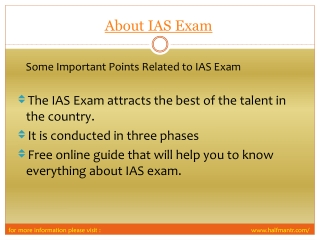 View About IAS exam