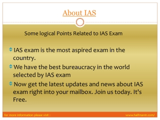View About IAS