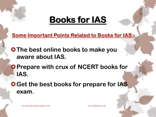 The best guides and books for IAS