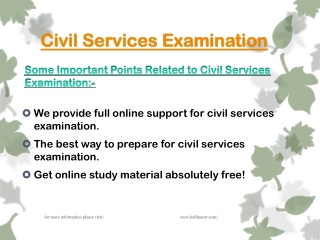 What is important to crack civil services examination?