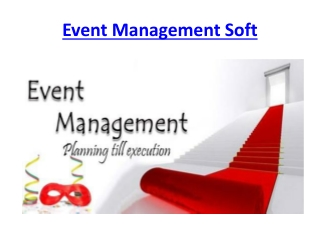 Event Management Soft