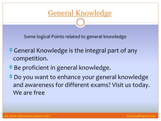 View For General Knowledge