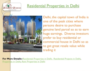 Residential Properties in Delhi