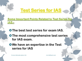Online Test series for IAS