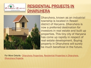 Residential Projects in Dharuhera