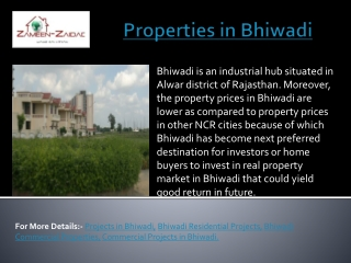 Properties in Bhiwadi