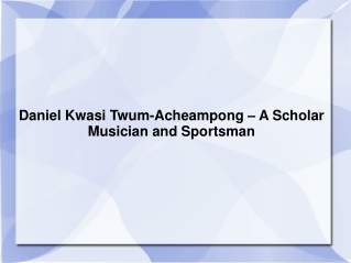 Daniel Kwasi Twum-Acheampong