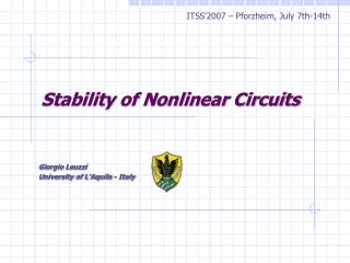 Stability of Nonlinear Circuits