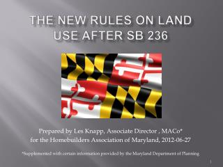 ThE NEW RULES ON LAND USE AFTER SB 236