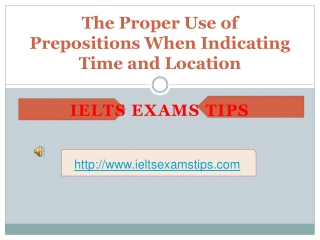 IELTS Training - IELTS Writing and Speaking - Preopositins