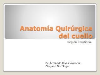 Anatom a Quir rgica del cuello