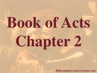 Book of Acts  Chapter 2