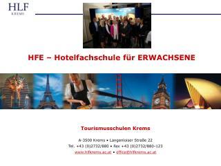 HFE   Hotelfachschule f r ERWACHSENE